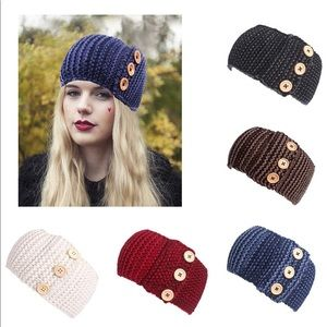 Accessories - Button accent knit ear warmers
